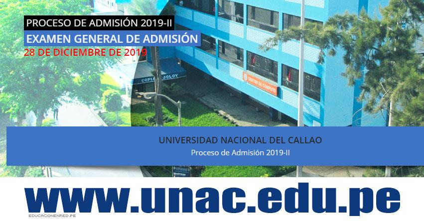 Resultados UNAC 2019-2 (Sábado 28 Diciembre) Lista de Ingresantes - Examen Admisión General - Universidad Nacional del Callao - www.unac.edu.pe