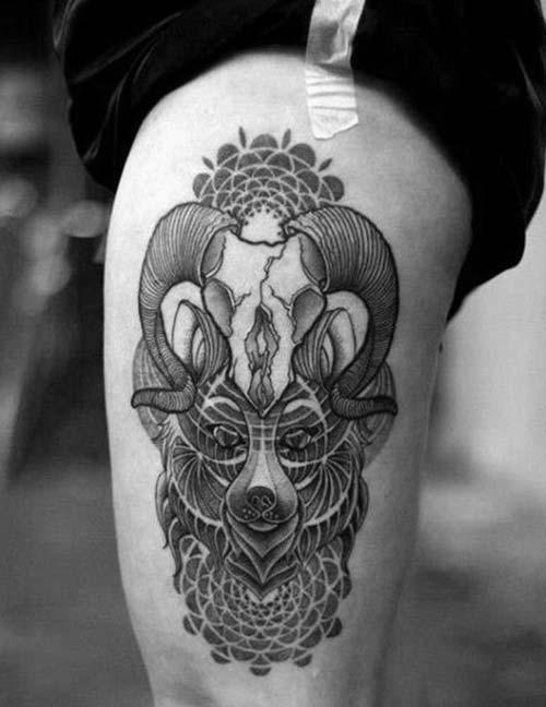 erkek üst bacak dövme modelleri man thigh tattoos 15