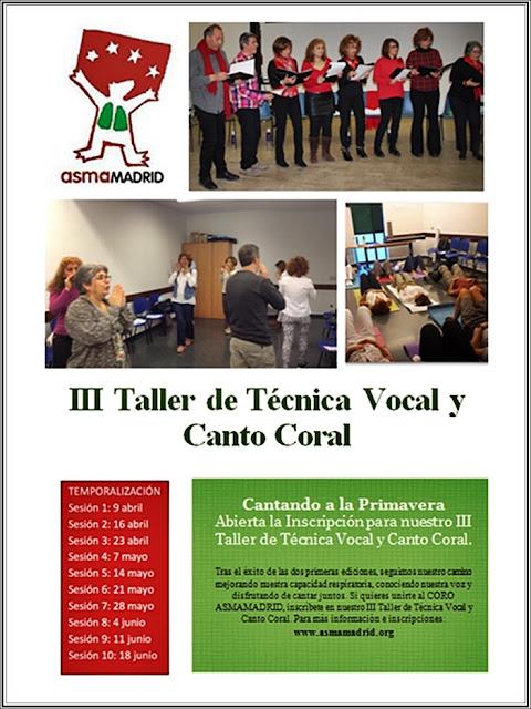 Taller de Técnica Vocal y Canto Coral