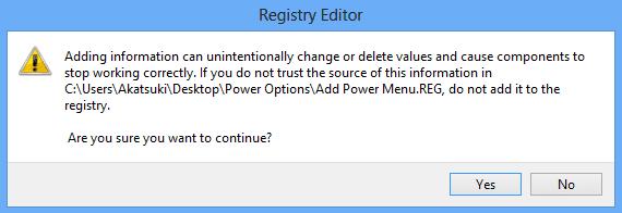 Thêm nút power vào menu chuột phải trên Windows