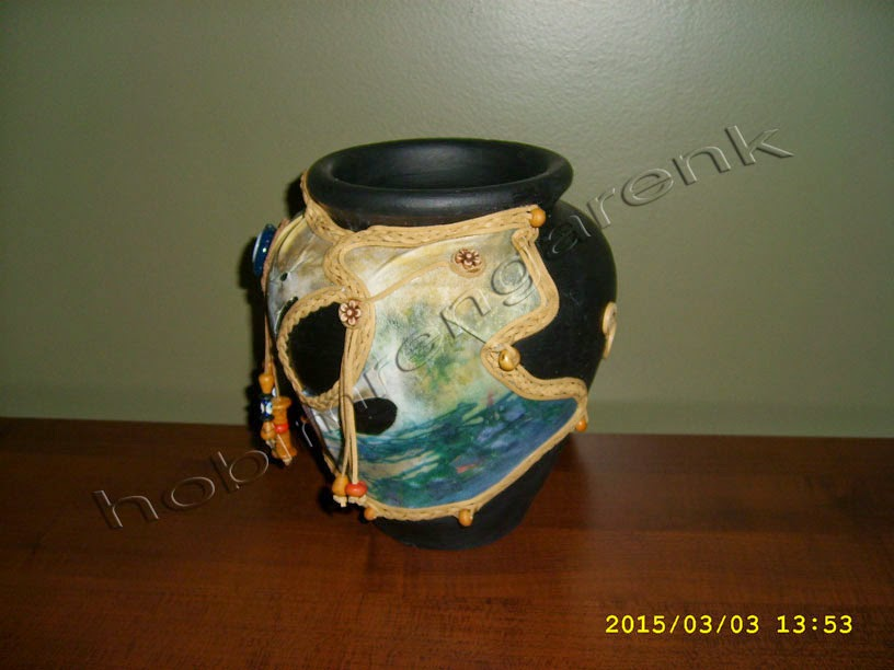 leather covered pot