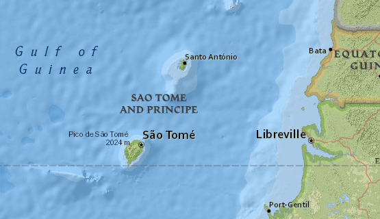 National Geographic Mapmaker Interactive map of São Tomé and Príncipe