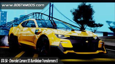 GTA SA - Chevrolet Camaro SS Bumblebee Transformers 5