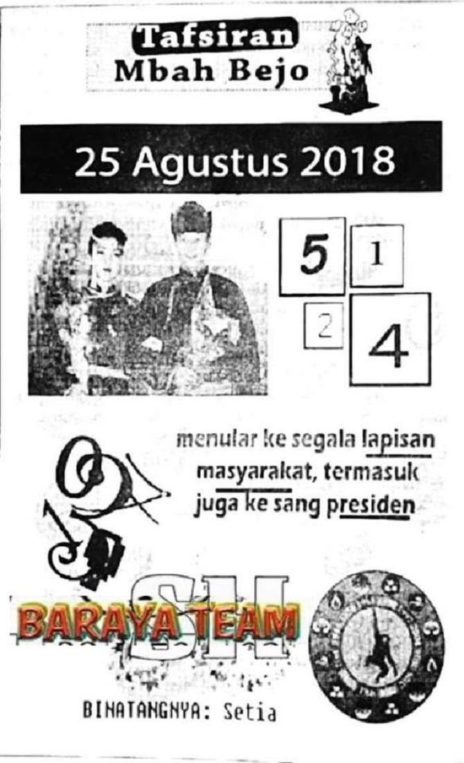 Forum Syair Harian Shio Jitu Hk 25 Agustus 2018 Kode Syair Sgp Hk Sd Motesia