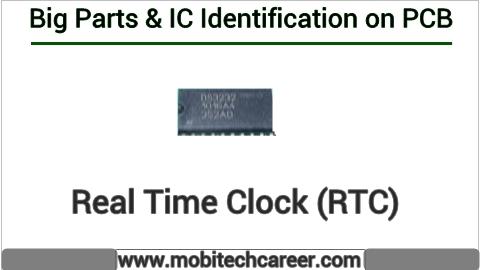 RTC identification on mobile cell phone smartphone pcb circuit board motherboad | RTC ki mobile phone pcb par pahchan kaise kare | RTC की मोबाइल रिपेयरिंग में पीसीबी पर पहचान करना सीखें कार्य व खराबियाँ | मोबाइल रिपेयर करना हिन्दी में सीखें | PCB पर All IC पहचान