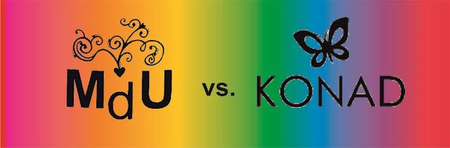 Porównanie lakierów Mundo de Uñas z lakierami do stempli Konad (Mundo de Unas vs. Konad stamping polishes)