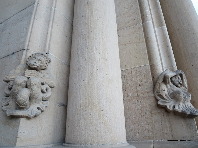 Monkey motifs on the columns of Speyer Cathedral