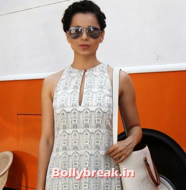 Kangana Ranaut, Kangana Ranaut in white at Promotion of Film Revolver Rani