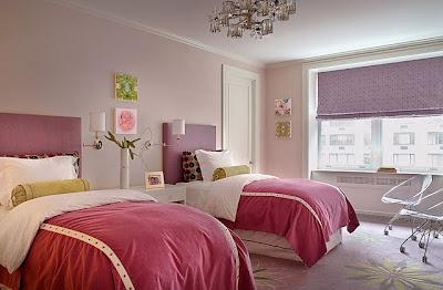 quarto de meninas rosa e lilás