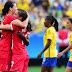 Brasil perde para o Canadá e fica sem medalha no futebol feminino