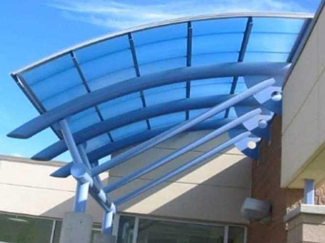 Model Kanopi Rumah Minimalis kaca