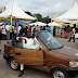 Meet the man who builds a car out of  'local wood' at Abuja Expo...photos