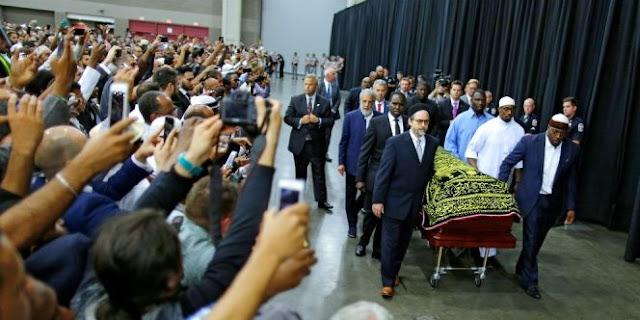 Iringi Pemakaman Muhammad Ali, Gema Takbir Dan Tahlil Getarkan Amerika. Lihat Videonya!