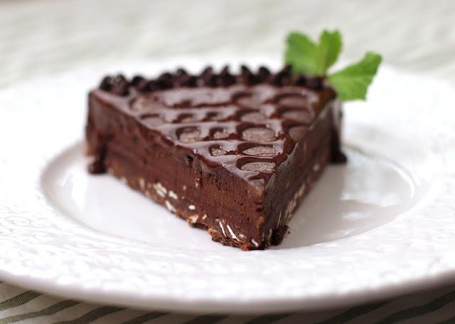 Healthy Dark Chocolate Truffle Tart - Desserts with Benefits