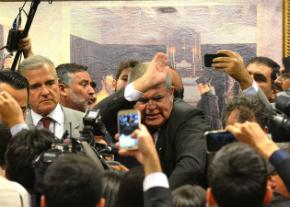 Baixaria: Comissão do impeachment termina em empurra-empurra