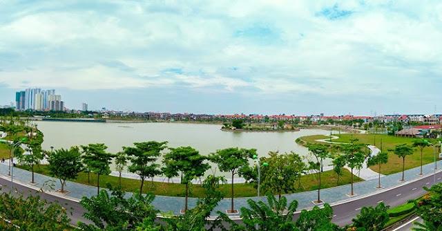 Hồ điều hòa rộng 15ha chung cư AN BÌNH CITY