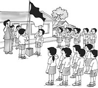 Mewarnai Gambar Upacara Bendera | Mewarnai Gambar