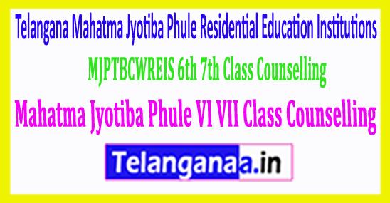 MJPTBCWREIS 6th 7th Class Mahatma Jyotiba Phule VI VII Class Counselling 2018