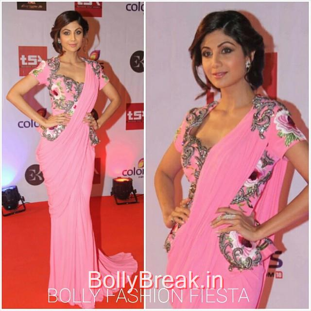 shilpa shetty , in monisha jai sing , and anmol jewell ers , at the television style awards 2015'. t sa ,