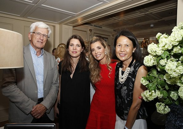 Princess Caroline of Hanover and Charlotte Casiraghi attended a reception