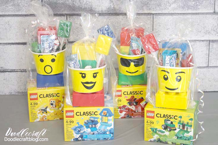 Doodlecraft: LEGO Paper Cup Faces Party Favors