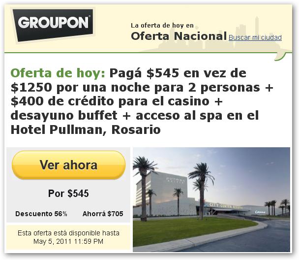 Citycenter Com: Ofertas Y Descuentos En Argentina: Ofertas GROUPON