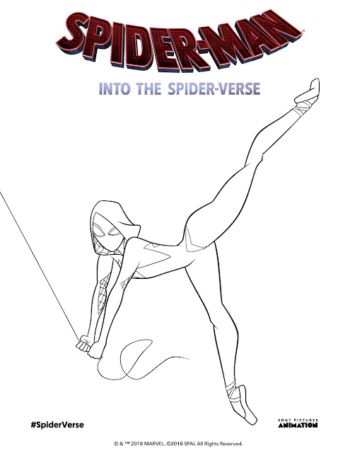 spiderman into the spiderverse coloring pages