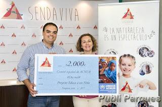 Sendaviva ha donado 2.000€ a ACNUR
