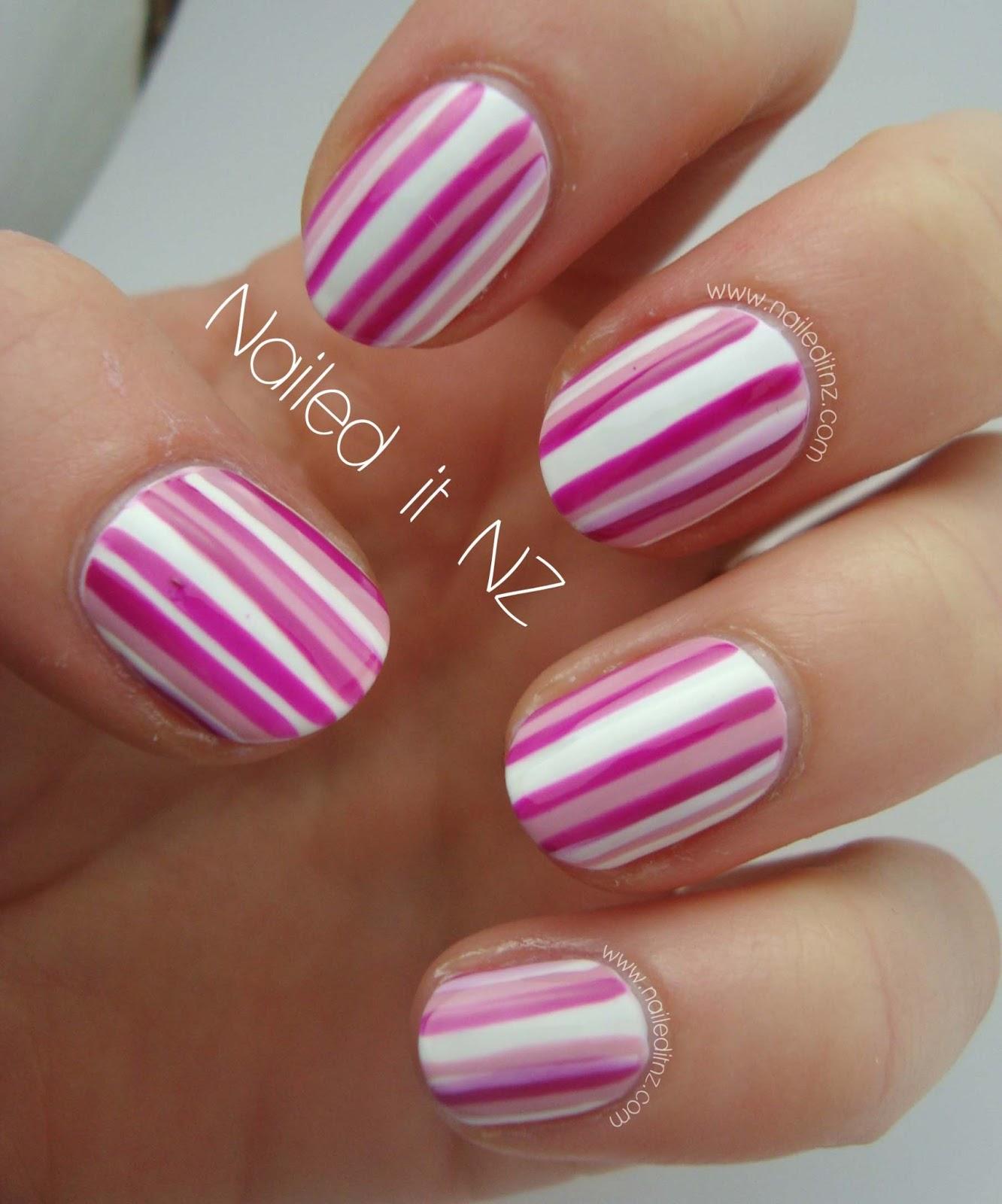 Easy Striped Nail Art Tutorial