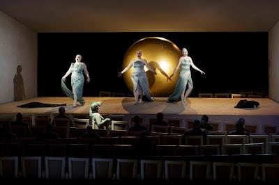 Wagner: The Ring - Semperoper, Dresden - Christiane Kohl (Woglinde), Simone Schröder (Flosshilde), Sabrina Kögel (Wellgunde), Janina Baechle (Erda) (Photo © Klaus Gigga)