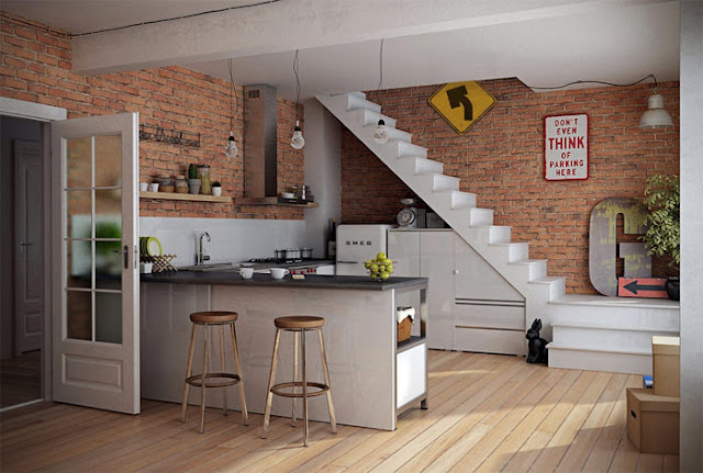 decoracion de interiores rusticos economicos: de madera para hacer de ello un bonito organizador para la cocina