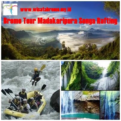 Paket Wisata Bromo Madakaripura Songa Rafting 2 Hari 1 Malam