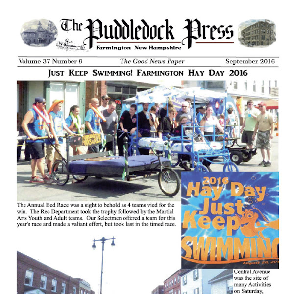 The September 2016 Puddledock Press is Now Available in Town and Online!