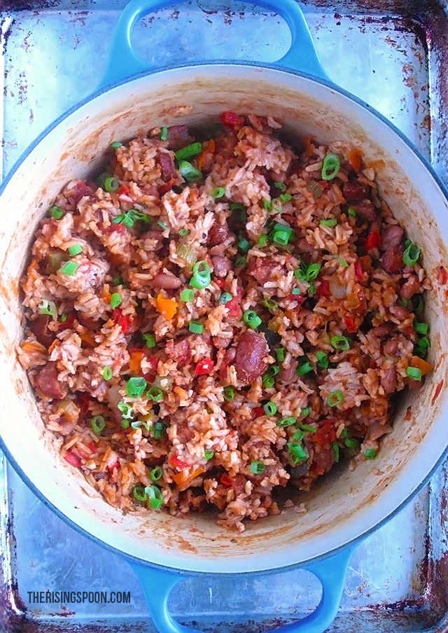 Creole Rice and Beans with Smoked Sausage