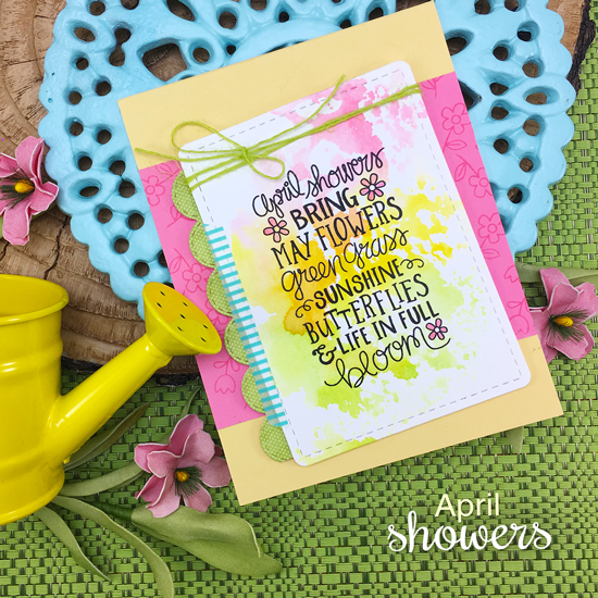 Spring Card by Jennifer Jackson | April Showers Stamp Set by Newton's Nook Designs #newtonsnook #handmade