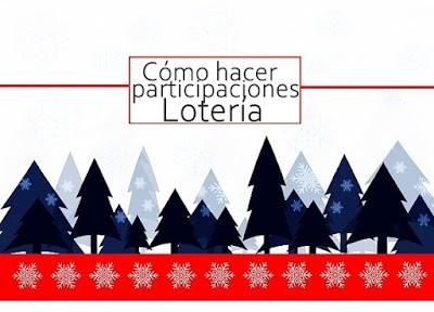 Como hacer Plantillas de Participaciones de la Loteria de Navidad