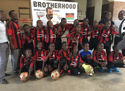 Heartwarming! Remember The African Kids Pictured Wearing Plastic Bag Jersey? Check Them Out Rocking Real Ones!