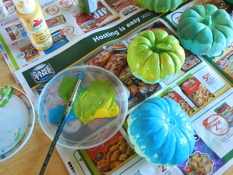 pumpkin fall floral craft
