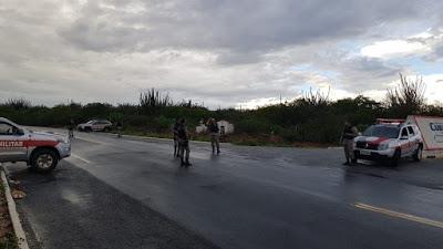 Polícia Militar realiza blitz em São Vicente do Seridó para conter onda de violência