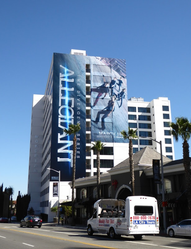 Giant Allegiant movie billboard Sunset Strip