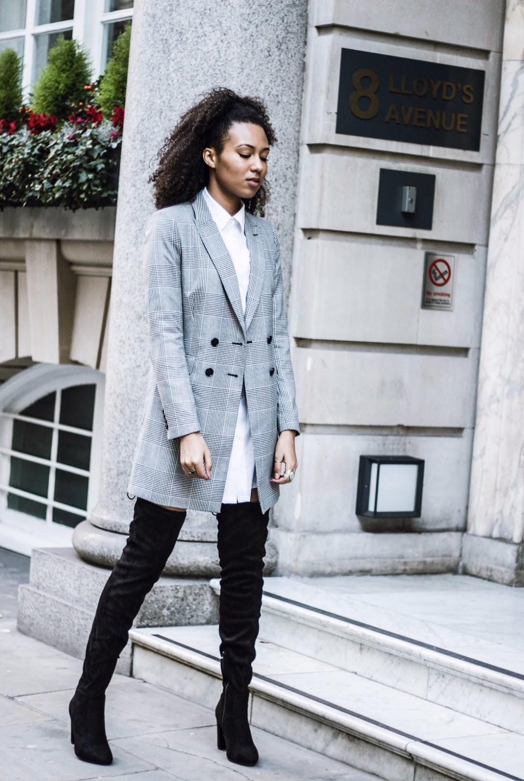 reiss vale 1975 longline blazer jacket street style