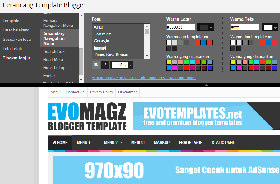 Template Blogspot Magazine