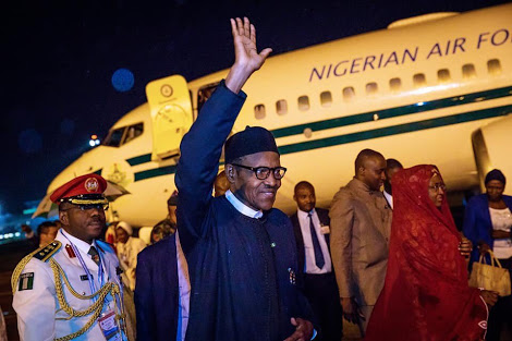 PHOTO: Buhari Arrives Nigeria After China Visit