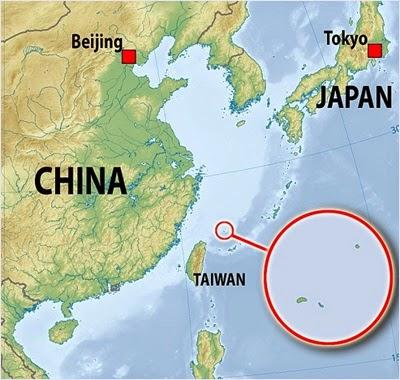 แผนที่เกาะเซนกากุ - เกาะเตียวหยู