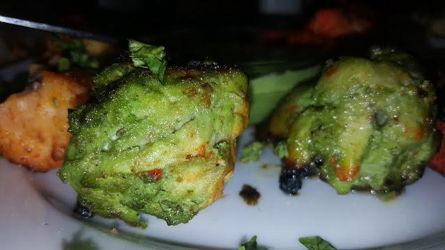 hariyali murgh tikka starter chicken