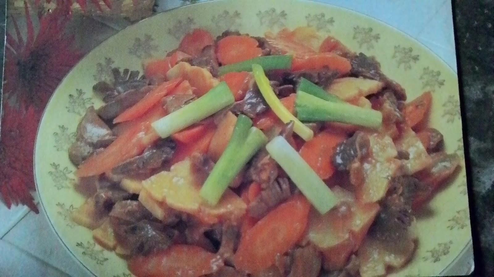 Resep Makanan Cah ati ampela dan Rebung, lengkpa dengan Carannya