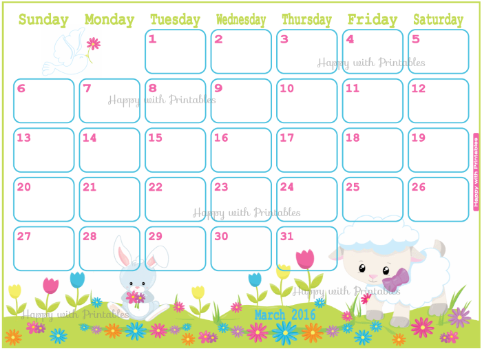 easter planner, march 2016, april 2016, may 2016, 2016 planner ...