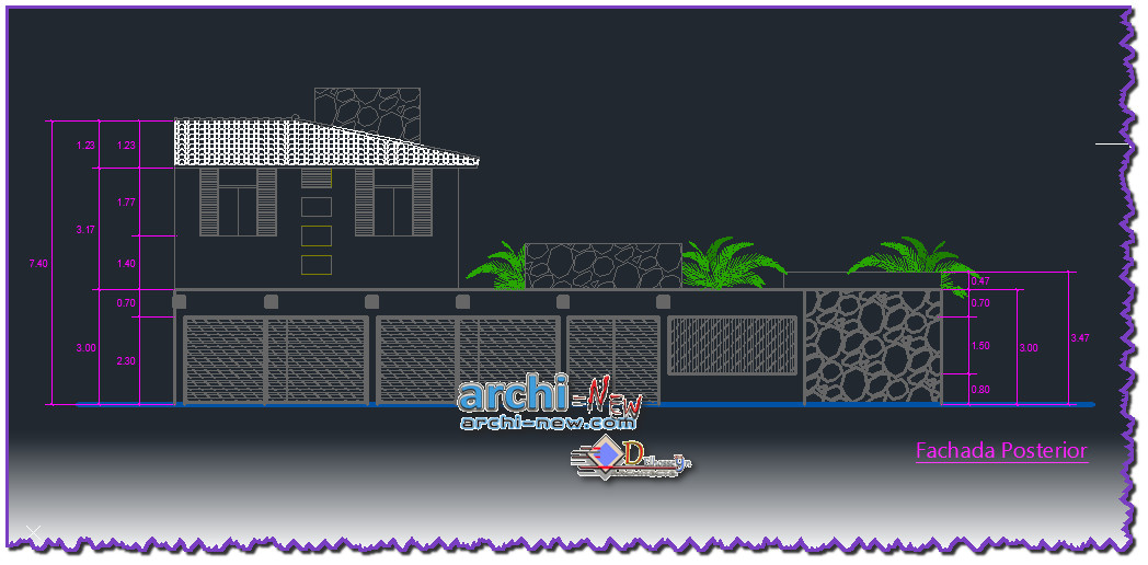 download autocad cad dwg file beach house project archi
