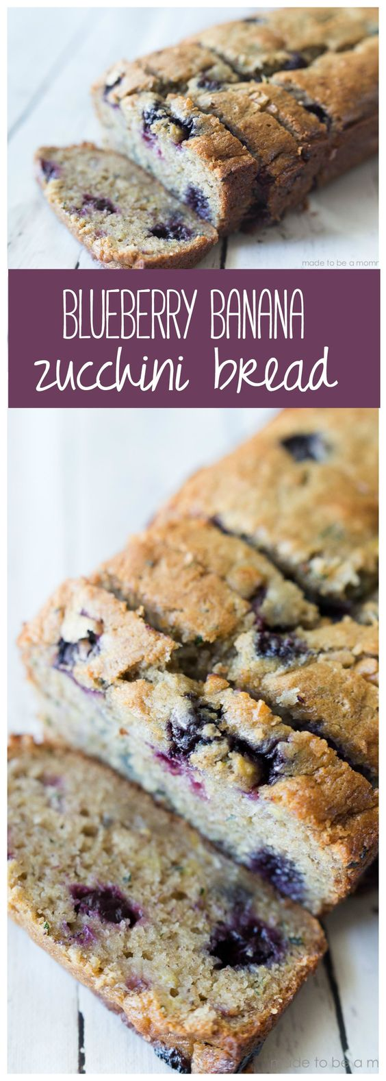 Blueberry Banana Zucchini Bread #blueberry #banana #zucchini #bread