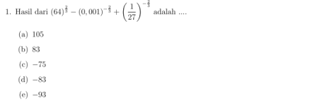 Pembahasan Soal UN Pelajaran Matematika SMK Tahun Pelajaran 2016/2017